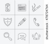 chat speech bubbles  bell and... | Shutterstock .eps vector #478724764