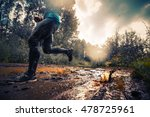 trail running athlete moving... | Shutterstock . vector #478725961