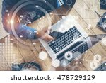 businessman working startup... | Shutterstock . vector #478729129