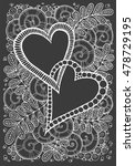 love theme card. hand drawn... | Shutterstock .eps vector #478729195