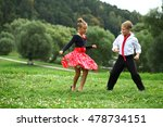 childrens ballroom dance couple ... | Shutterstock . vector #478734151