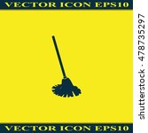 mop icon. floor cleaning object. | Shutterstock .eps vector #478735297