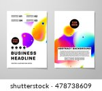 cover template with abstract... | Shutterstock .eps vector #478738609
