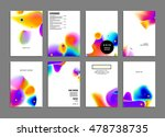 cover template with abstract... | Shutterstock .eps vector #478738735