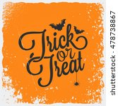 trick or treat halloween... | Shutterstock .eps vector #478738867