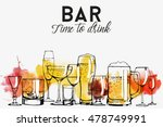 alcohol drinks banner design.... | Shutterstock .eps vector #478749991