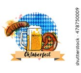 oktoberfest. watercolor vector... | Shutterstock .eps vector #478750009
