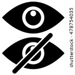 eye symbols as show  hide ... | Shutterstock .eps vector #478754035