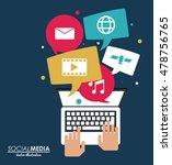 laptop and media design   Shutterstock .eps vector #478756765