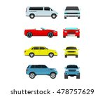 different car vehicle transport ... | Shutterstock .eps vector #478757629