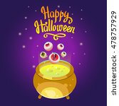 halloween composition. funny... | Shutterstock .eps vector #478757929