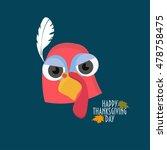 a turkey bird head vector. ... | Shutterstock .eps vector #478758475