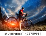mountain bicycle rider on the...   Shutterstock . vector #478759954