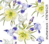 floral seamless pattern with... | Shutterstock . vector #478760125