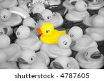 Bunch Of Rubber Ducks Floating...