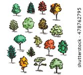 set of hand drawn colorful... | Shutterstock .eps vector #478762795
