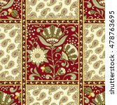 vector paisley background with... | Shutterstock .eps vector #478763695