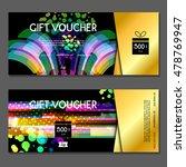 gift voucher. vector ... | Shutterstock .eps vector #478769947