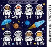 set of cute animal astronauts ...   Shutterstock .eps vector #478770991