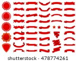 banner vector icon set red... | Shutterstock .eps vector #478774261