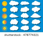 cloud vector icon set white... | Shutterstock .eps vector #478774321