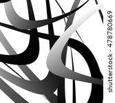 overlapping random curved lines ... | Shutterstock .eps vector #478780669