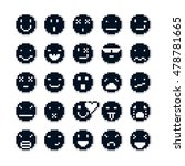 vector pixel icons isolated ... | Shutterstock .eps vector #478781665
