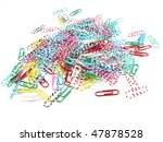 office clips for paper   Shutterstock . vector #47878528