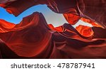 sky in a glowing slot canyon ... | Shutterstock . vector #478787941