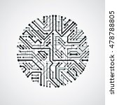 vector circuit board circle ... | Shutterstock .eps vector #478788805