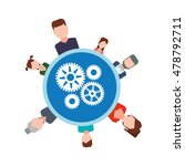 avatar gears teamwork support... | Shutterstock .eps vector #478792711