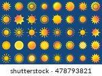 sun vector burst icon set sol... | Shutterstock .eps vector #478793821