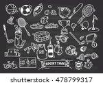 sport themed doodle | Shutterstock . vector #478799317
