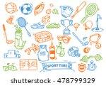 sport themed doodle | Shutterstock . vector #478799329
