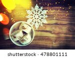 christmas background with cup... | Shutterstock . vector #478801111