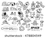 space themed doodle | Shutterstock . vector #478804549