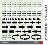 arrows icon set | Shutterstock .eps vector #478808155