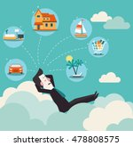 relaxed and successful ... | Shutterstock .eps vector #478808575