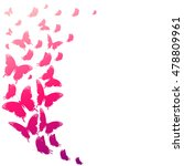 color butterflies isolated on a ... | Shutterstock .eps vector #478809961