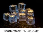 ice cubes colorful on a black... | Shutterstock . vector #478810039