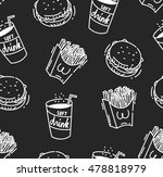 fast food seamless background | Shutterstock . vector #478818979