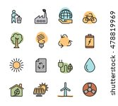color flat ecology energy icon...