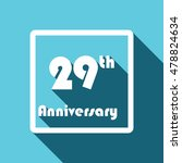 flat design 29th anniversary. ... | Shutterstock .eps vector #478824634
