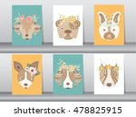 collection of portrait dog with ... | Shutterstock .eps vector #478825915