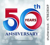 50 years anniversary with bokeh ... | Shutterstock .eps vector #478828069