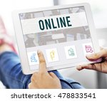 online communication connection ... | Shutterstock . vector #478833541