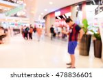 blurred people in shopping mall.
