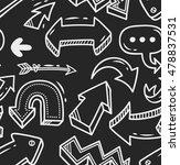 arrow doodle seamless background | Shutterstock . vector #478837531