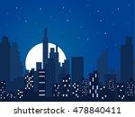 night city vector illustration. ... | Shutterstock .eps vector #478840411