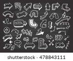 set of arrow doodle on... | Shutterstock . vector #478843111
